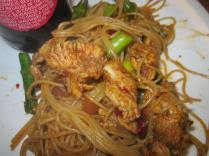 Chili Chicken and Asparagus Lo Mein