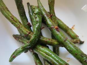 Sneaky Ninja Chili Green Beans.  One of things is not like the other.  One of these things is not the same...